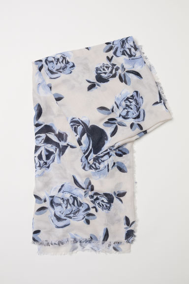 Floral scarf - White/Floral - Ladies | H&M