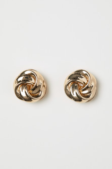 Round Clip Earrings