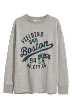 Pull en jersey avec impression - Gris chiné/Boston - ENFANT | H&M FR 2