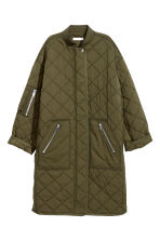Quilted coat - Khaki green - Ladies | H&M IE 2