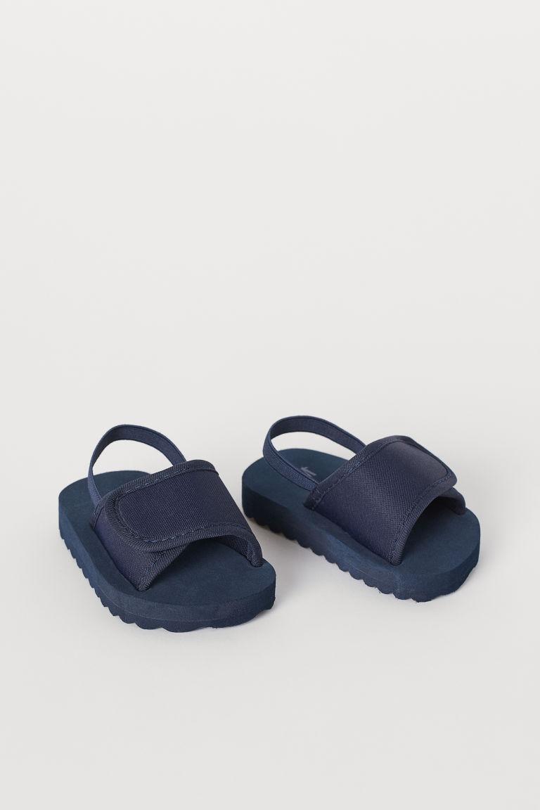 Elasticated pool shoes - Dark blue - Kids | H&M GB