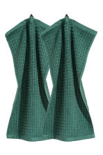 2-pack guest towels - Dark green - Home All | H&M IE 1