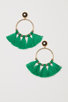 Round tasselled earrings