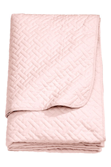 Quilted bedspread double - Light pink - Home All | H&M IE