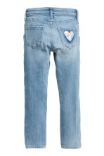Superstretch Skinny fit Jeans - Light denim blue/Sequins - Kids | H&M CN 3