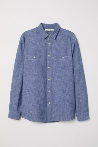 Denim shirt - Denim blue -  | H&M CN