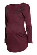 MAMA Top - Burgundy - Ladies | H&M 1