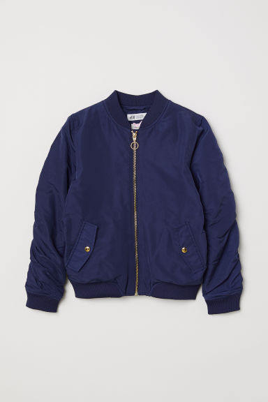 Padded bomber jacket - Dark blue - Kids | H&M CN