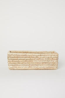 Braided storage basket