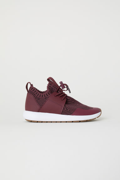 Fully-fashioned trainers - Burgundy - Kids | H&M CN