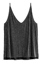 Glittery top - Black/Silver-coloured - Ladies | H&M IE 2