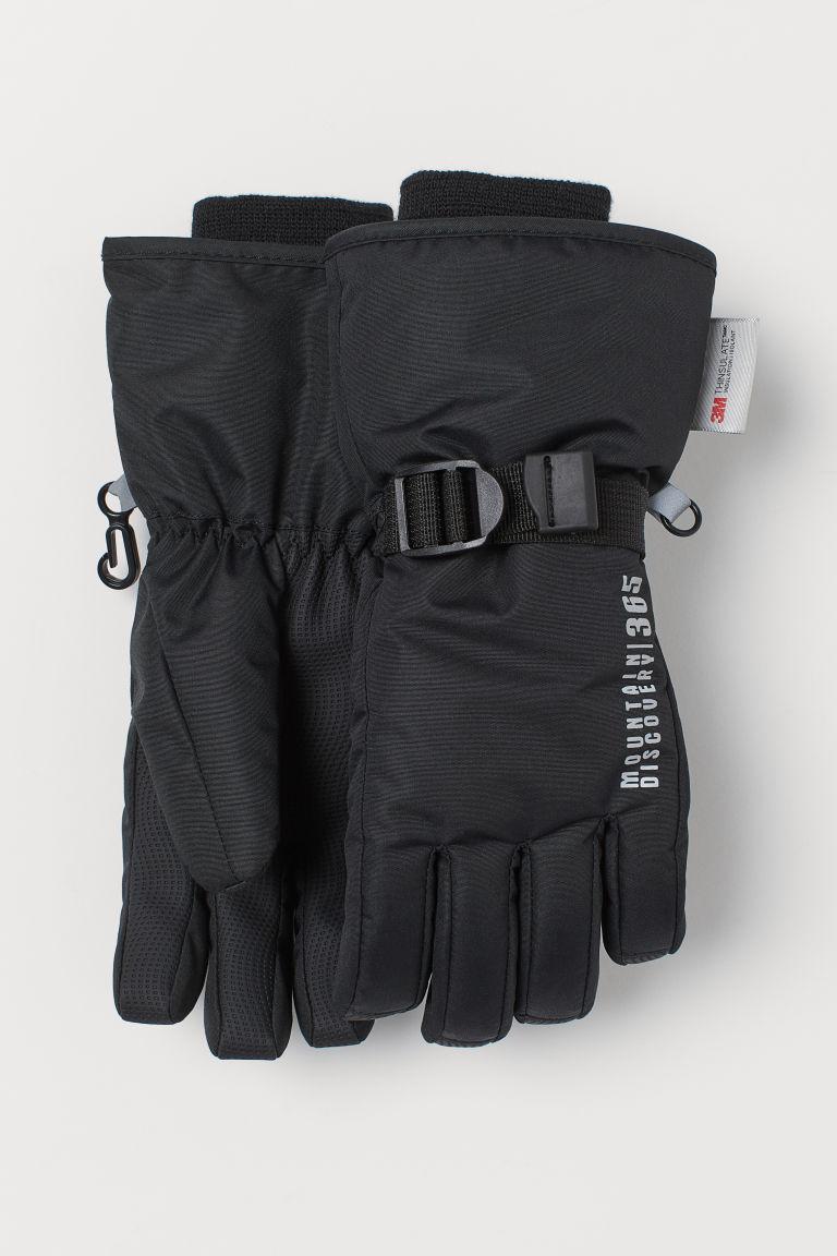 Water-repellent ski gloves - Black - Kids | H&M GB