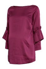 MAMA Top with flounces - Magenta - Ladies | H&M 2