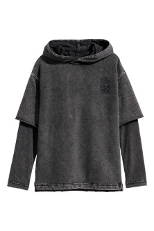 Double-sleeved Hooded Shirt