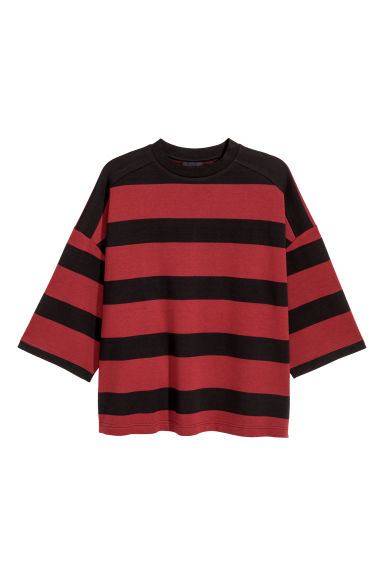 Oversized T-shirt - Wit/rood gestreept - HEREN | H&M BE