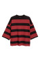 Black/Red striped