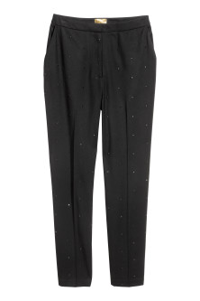 Suit trousers with studs