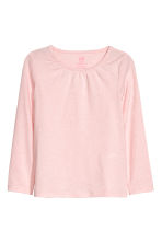 2-pack jersey tops - White/Pink marl - Kids | H&M CN 3