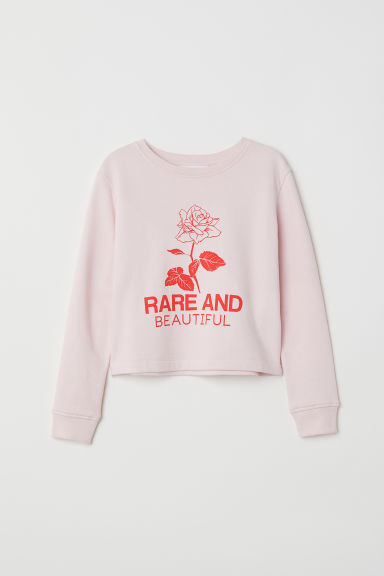Camisola sweat com estampado - Rosa/Rare and beautiful -  | H&M PT