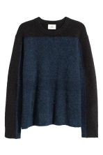 Alpaca-blend jumper - Dark blue/Black - Men | H&M IE 3