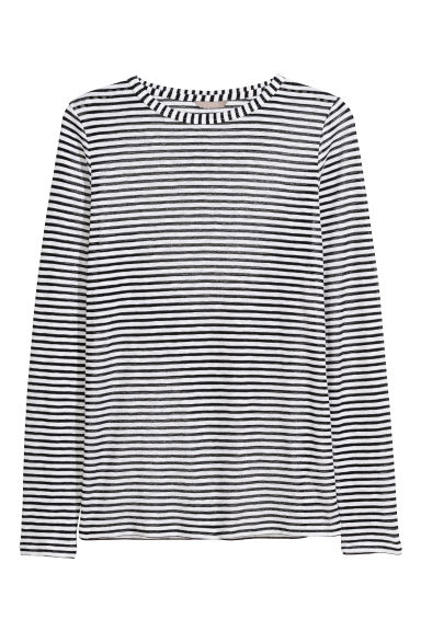 H&M+ Striped jersey top Model