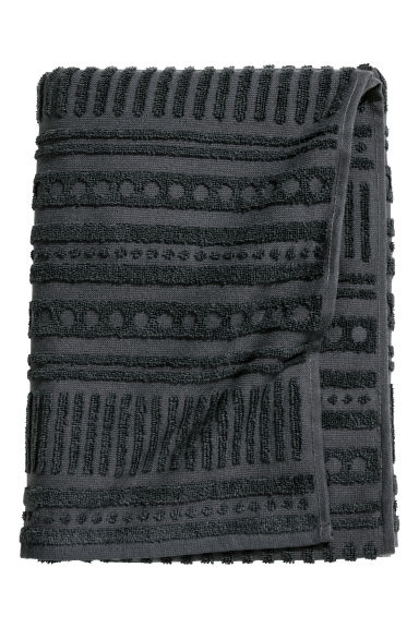 Burnout-patterned bath towel - Anthracite grey - Home All | H&M CN