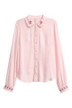 Blouse with embroidery detail - Light pink - Ladies | H&M IE 2