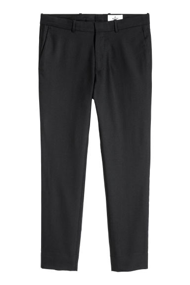 Wool-blend trousers - Black - Men | H&M CN
