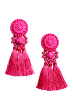 Earrings with tassels - Pink - Ladies | H&M CN 1