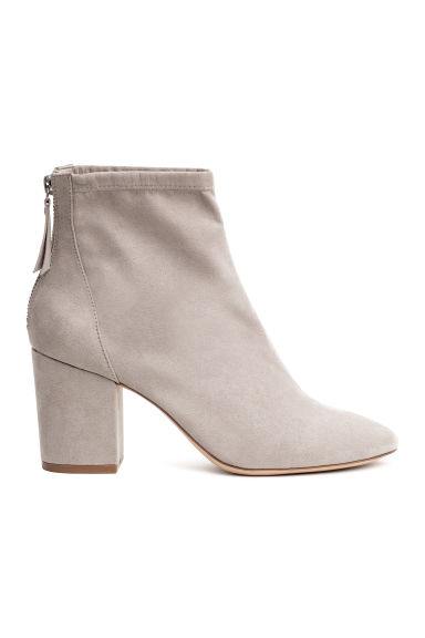 Block-heeled ankle boots - Light mole - Ladies | H&M