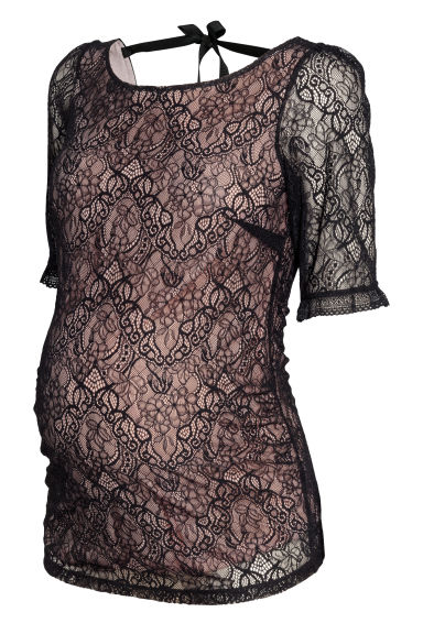 MAMA Lace top - Black - Ladies | H&M