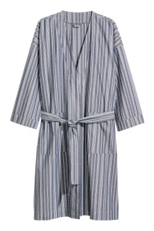 Oxford cotton dressing gown