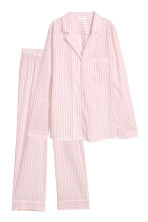 Pyjama shirt and bottoms - Powder pink - Ladies | H&M 2