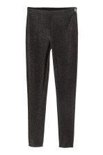Glittery trousers - Black/Glittery - Ladies | H&M 2