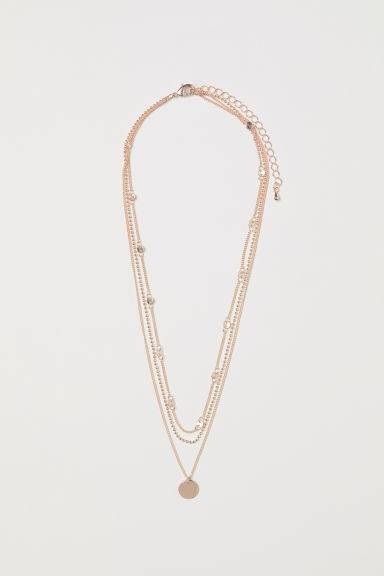 Three-strand necklace - Rose gold-coloured -  | H&M