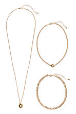 3-pack necklaces - Gold-coloured - Ladies | H&M GB 2