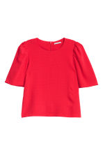Puff-sleeved blouse - Bright red - Ladies | H&M 2