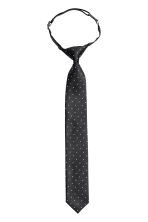 Patterned tie - Black/Spotted -  | H&M CN 1