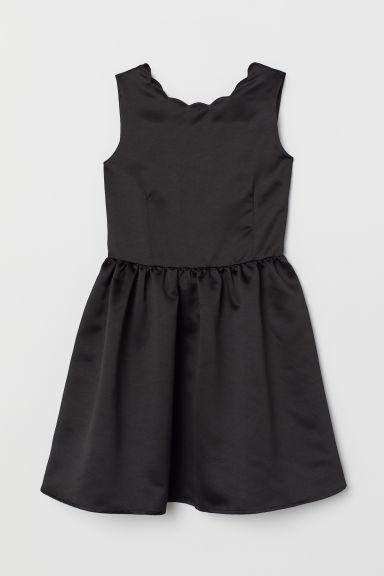 Satin dress - Black - Kids | H&M GB