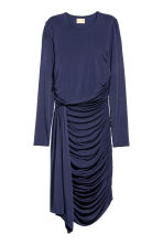 Draped dress - Dark blue - Ladies | H&M CN 2