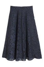 Calf-length lace skirt - Dark blue - Ladies | H&M 2