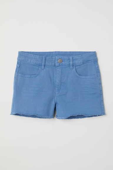 Generous Fit Twill shorts - Light blue - Kids | H&M CN