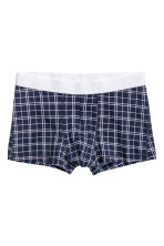 3-pack trunks - Dark blue/Checked - Men | H&M IE 2