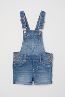 Salopette short en denim