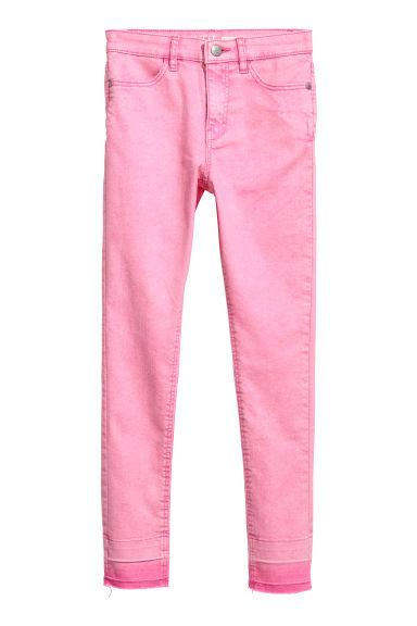 Twill trousers Skinny Fit - Pink - Kids | H&M GB