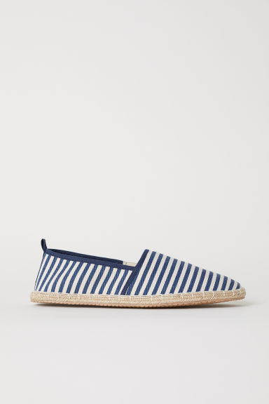 Espadrilles - Dark blue/Striped - Men | H&M