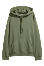 Hooded top - Khaki green - Ladies | H&M GB 2