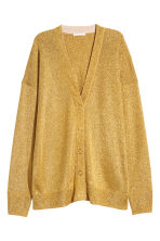 Shimmering metallic cardigan - Gold-coloured - Ladies | H&M 2