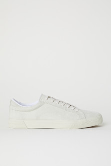 Imitation suede trainers