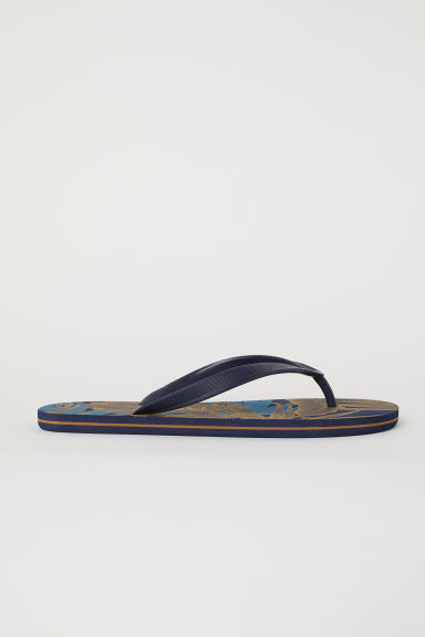 Flip-flops - Dark blue/Patterned -  | H&M CN